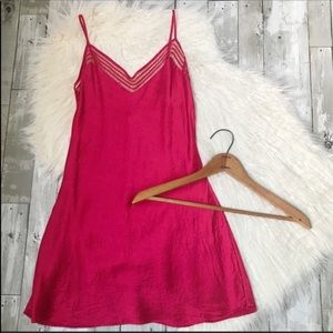 VICTORIA'S SECRET Red Silk Slip Dress Medium